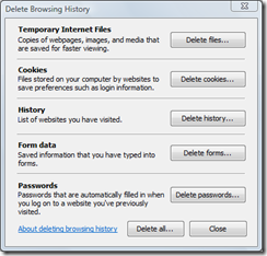 Delete Stored Passwords In Internet Explorer