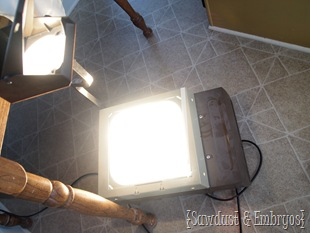 Use an overhead projector to paint designs on furniture! {Sawdust and Embryos}