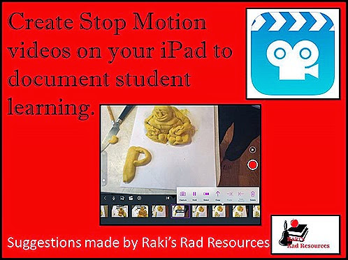 Create Stop Motion videos on your iPad.  Easy to do in your classroom.  Suggestions from Raki's Rad Resources