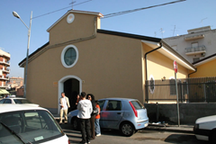 Das zentrum der Hilfe in Catania.