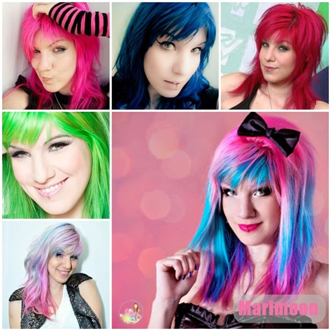 cabelos coloridos marimoon