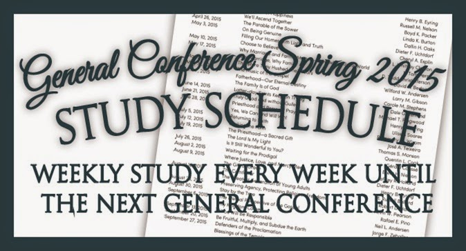 General Conference Spring      Study Schedule