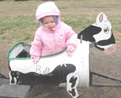 10.29.11 Cousins halloween get together Bellz riding in Bella the cow