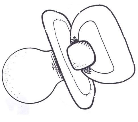 Como hacer un chupon en foami para - Imagui