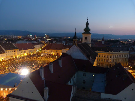 Historical city of Transylvania: Sibiu by night