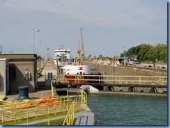 8467 Thorold - Lock 7 Viewing Complex - viewing site - Thunder Bay lake freighter in Lock 7