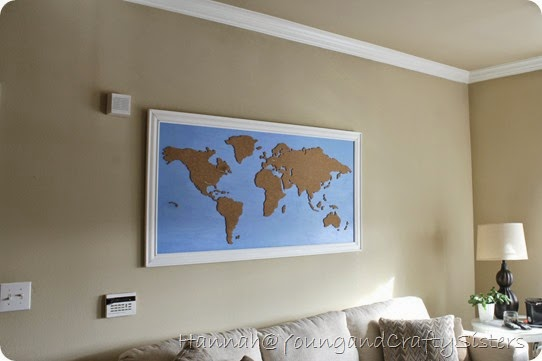 Cork board world map 13