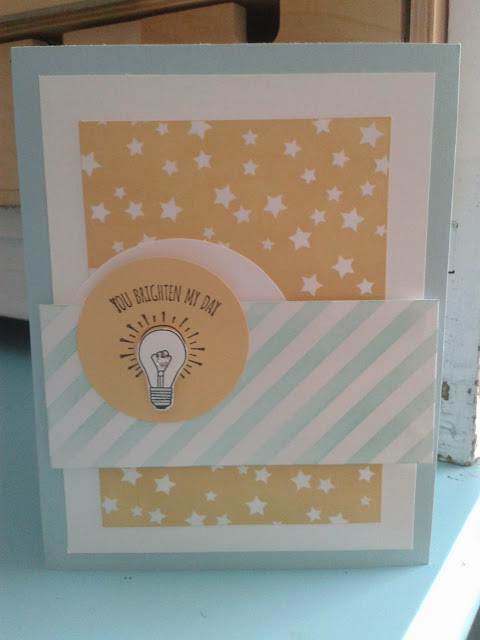 sale-a-bration, stampin up, you brighten my day