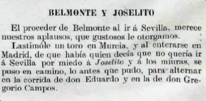 1914-04-28 (p. LL) Belmonte fue a Sevilla