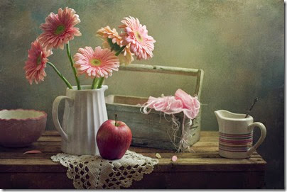 still-life-with-pink-gerberas-and-red-apple-copyright-anna-nemoyxaomena