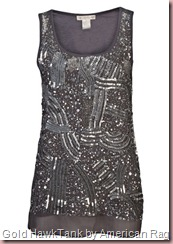 Gold Hawk Cosmic Beaded Tank by American Rag