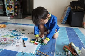 Painting on the floor
