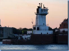 3739 Ontario Sarnia - St Clair River at sunset - Great Lakes Trader barge being pushed by the tug Joyce L. VanEnkevort