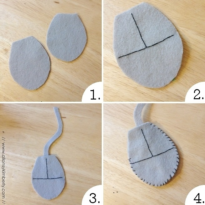DIY: Computer Mouse Cat Toy | allonsykimberly.com