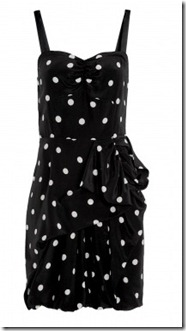 Marc by Marc Jacobs Black Polka Dot Dress