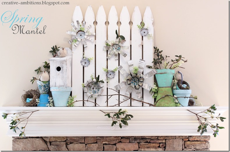 Spring Mantel