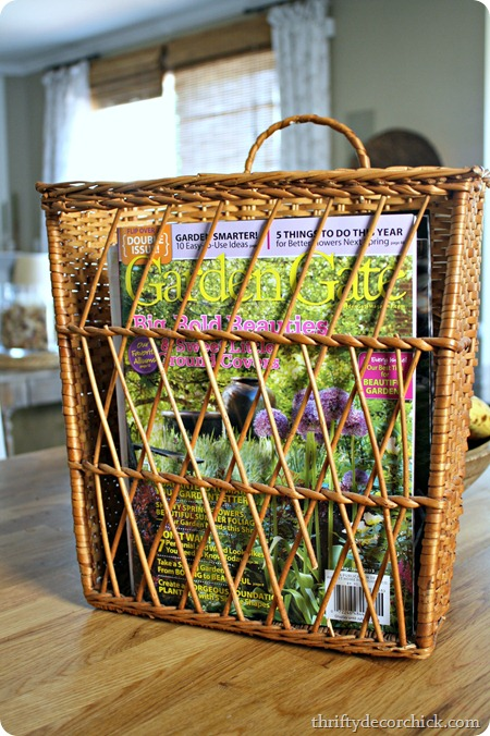 hanging magazine basket