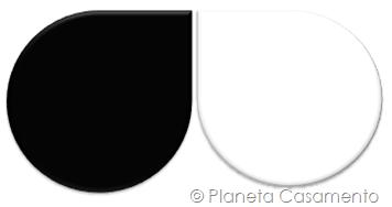 Paleta de Cores - Preto e Branco - Planeta Casamento