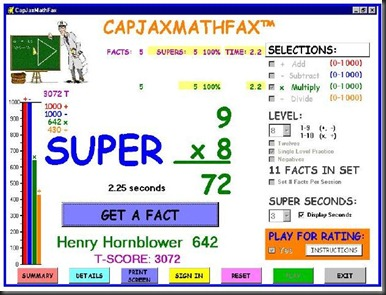 CapJaxMathFax screenshot