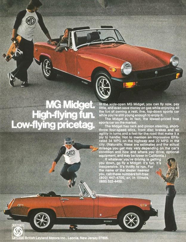 MG MIDGET 1971 Retro Ads Vintage Car Ads Automobilia | Etsy