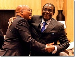 Jacob Zuma and Robet Mugabe