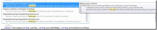 DiggingOfMethodInVisualStudio2013