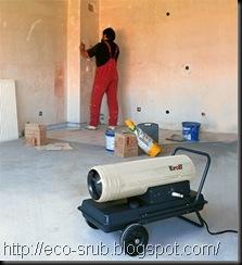 тепловые пушки во время строительства