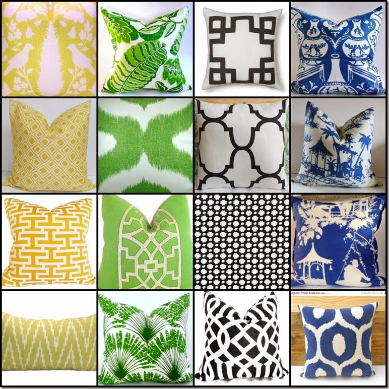 Ribbet collage The contenders spring pillows family room