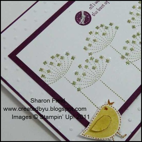 2.dazzling diamonds on stamped images and popped birdie