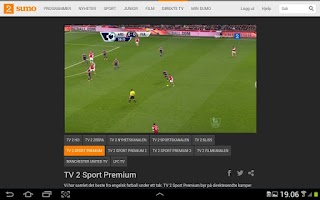 Screenshot of TV 2 Sumo
