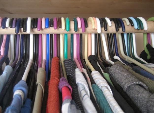 cabides para arrumar limpar armario