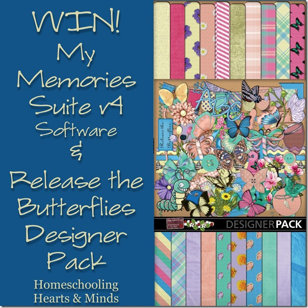 Win My Memories Suite software + the Release the Butteflies Designer pack (ends 5/26)