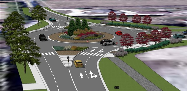 Collingwood Ontario roundabout design