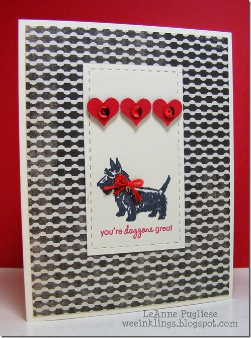 LeAnne Pugliese WeeInklings Paper Players 230 Doggone Great Papertrey Ink Valentine