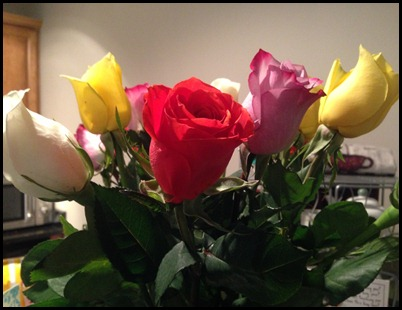 flowers from Mark's family for my bd 4