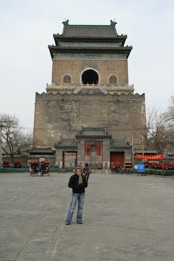Lynette outside Beijing's drum tower. We didn't go in... we had an art district to visit!