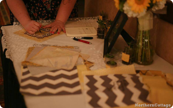 wedding guestbook quilt signing {NorthernCottage}