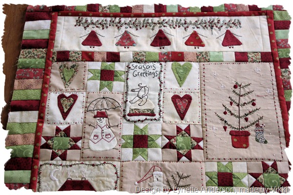 Christmas fun quilt top 1