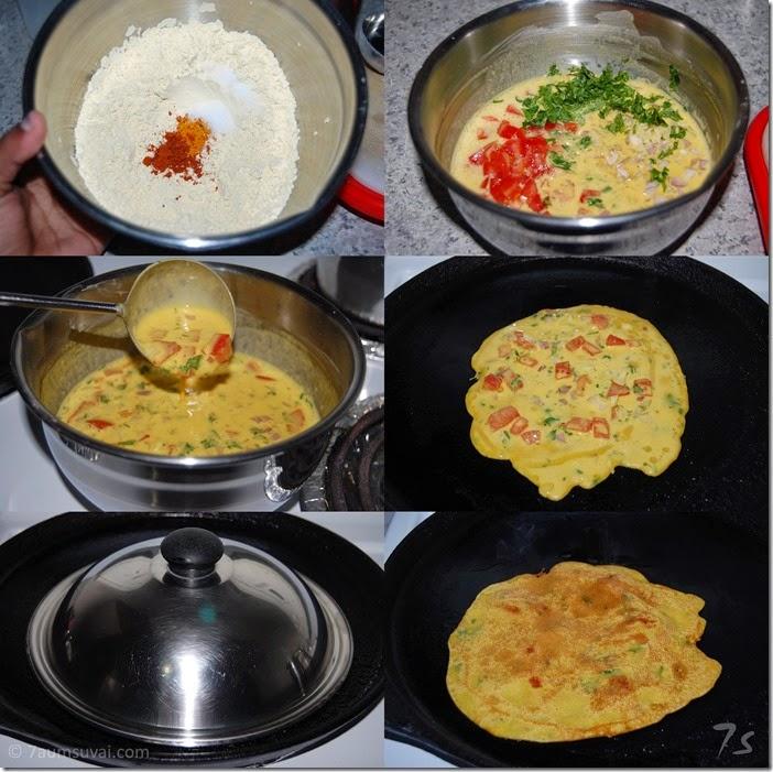 Tomato omelette process