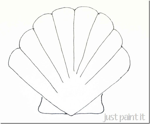 seashell templates printable
