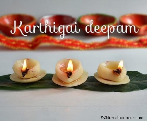 Karthigai deepam using dough
