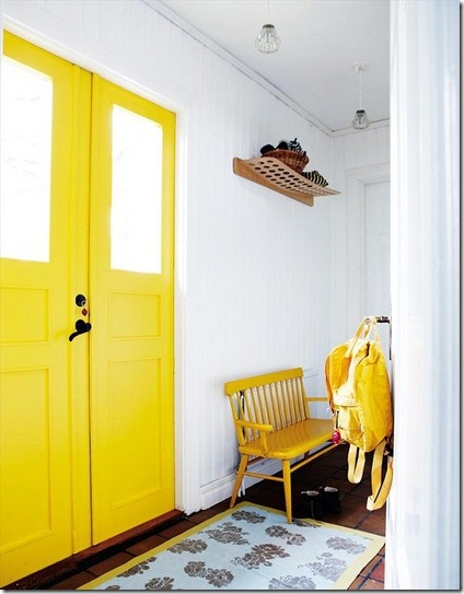 yellow interior door via a design story