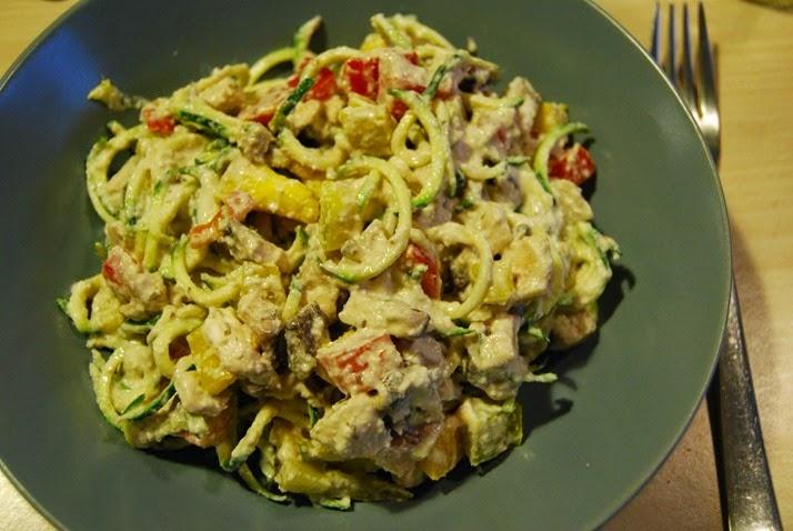 DSC_3071 spaghetti zucchine in salsa alfredo
