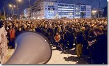 La manifestazione di Atene