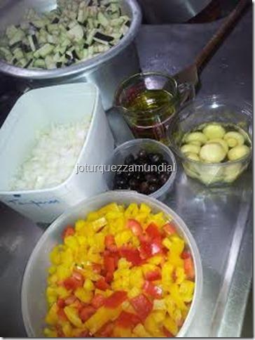 Antepasto beringela - ingredientes