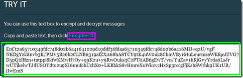 Decriptare email agendo dal sito encipher.it