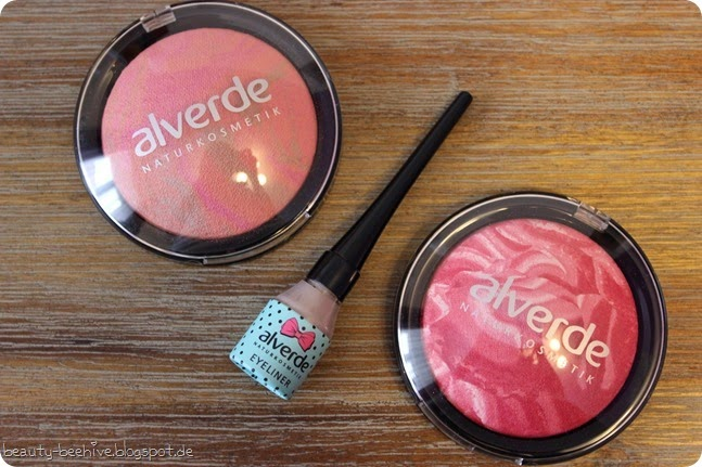 alverde fablulous fifties le kollektion haul shopping einkauf swatches blush blushes rouge rouges dizzy peach lolli pink tease me grey eyeliner swatches swatch review