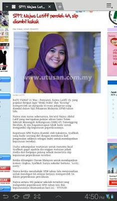 Keputusan Peperiksaan SPM Najwa Latif !