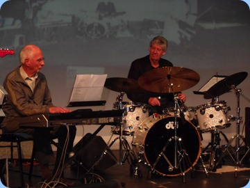 John Perkin on his Korg Pa3X keyboard playing one of his solos with Ian Jackson adding drum accompaninment