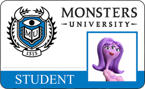 Naomi Jackson Monsters University Student Identification Card